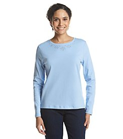 Studio Works® Petites' Long Sleeve Crew Neck Tee