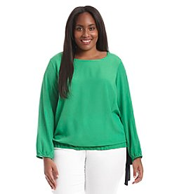 MICHAEL Michael Kors® Plus Size Tie Bottom Top