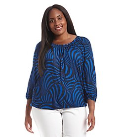 MICHAEL Michael Kors® Plus Size Printed Peasant Top