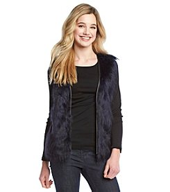 Eyeshadow® Faux Fur Front Vest