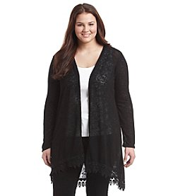 Living Doll® Plus Size Crochet Trim Cardigan