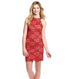 Morgan & Co.® Glitter Lace Dress