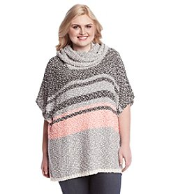 Eyeshadow® Plus Size Cowlneck Poncho