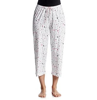 HUE® Printed Pajama Capris