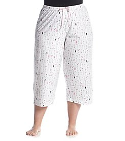 HUE® Plus Size Printed Lounge Capris