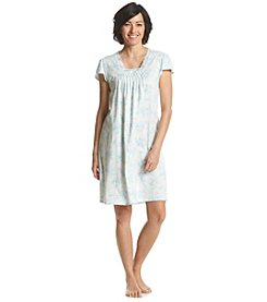 Miss Elaine® Printed Short Sleeve Night Gown