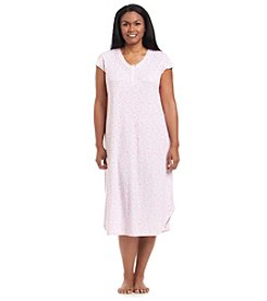 Miss Elaine® Plus Size Floral Printed Night Gown