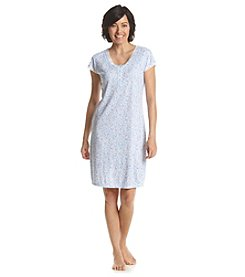 Miss Elaine® Short Floral Printed Night Gown