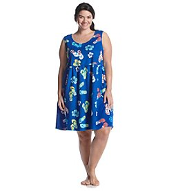 Jasmine Rose® Plus Size Printed Terry Gown