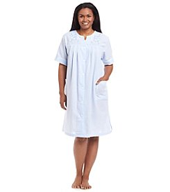 Miss Elaine® Plus Size Button Front Robe