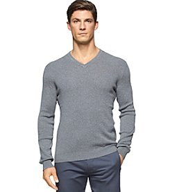 Calvin Klein Men's Long Sleeve Pima Cotton V-Neck Sweater