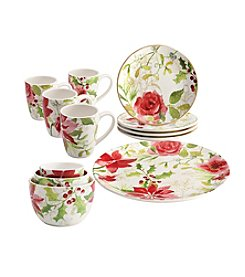 Paula Deen® Floral 12-Pc. Complete Tabletop Porcelain Dinnerware Set