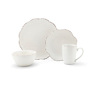 everly white dinnerware set
