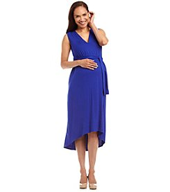 Three Seasons Maternity™ Sleeveless V-Neck Belted Dress