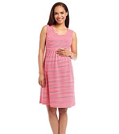 Three Seasons Maternity™ Sleeveless Stripe Ponte Knit Dress