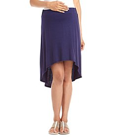 Three Seasons Maternity™ Solid Knit Skirt With Sharkbite High-Low Hem