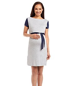 Three Seasons Maternity™ Short Sleeve Colorblocked Knit Dress