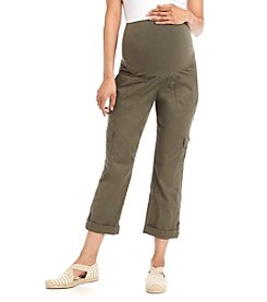 Three Seasons Maternity™ Cargo Capri With Roll Cuff