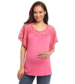 Three Seasons Maternity™ Lace Yoke & Sleeve Top