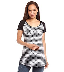 Three Seasons Maternity™ Short Sleeve Printed Top