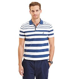 Nautica® Men's Slim Fit Engineered Stripe Stretch Pique Polo