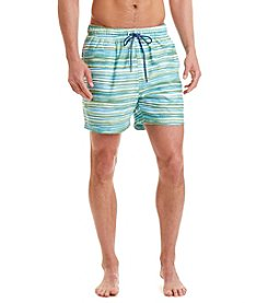 Nautica® Men's Quick-Dry Watercolor Striped Swim Trunks
