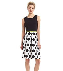 Madison Leigh® Contrast Polka Dot Dress