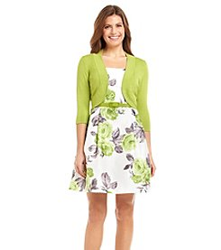 Jessica Howard® Petites' Belted Floral Jacket Dress