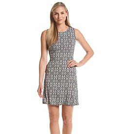 AGB® Geo A-Line Dress