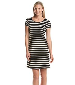 AGB® Striped A-Line Dress