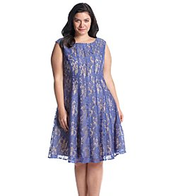 Julian Taylor Plus Size Lace Fit And Flare Dress