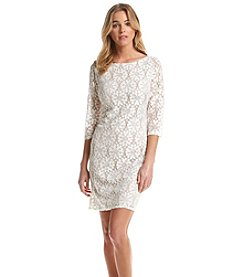 Jessica Howard® Floral Lace Shift Dress