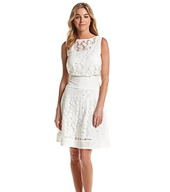 Gabby Skye® Pintuck Lace Blouson Dress