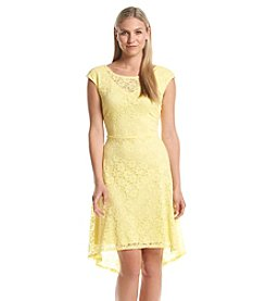 Connected® Fit And Flare Lace Dress