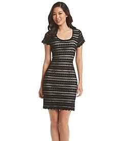 Ronni Nicole® Striped Lace Dress
