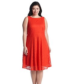 Gabby Skye® Plus Size Lace Shift Dress