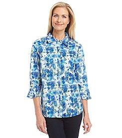 Breckenridge® Petites' Paradise Island Printed Woven Shirt