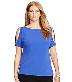 Lauren Ralph Lauren® Plus Size Split-Sleeve Jersey Top