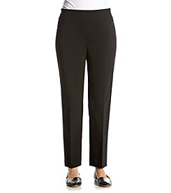 Alfred Dunner® Port Antonio Solid Slim Pants