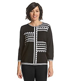 Alfred Dunner® Port Antonio Blocked Stripe Sweater