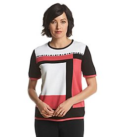 Alfred Dunner® Port Antonio Colorblock Sweater