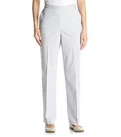 Alfred Dunner® Santa Clara Pinstripe Regular Pants