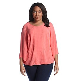 AGB® Plus Size Solid Seamed Top