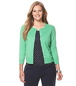 Chaps® Plus Size Cotton Cardigan
