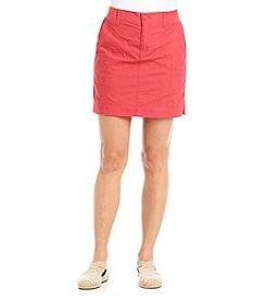 Gloria Vanderbilt® Petites' Poplin Knit Skort