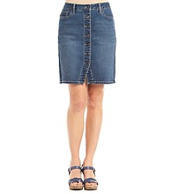 Earl Jean® Petites' Button Front Skirt