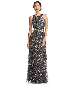 Adrianna Papell® Halter Neck Sequin Dress