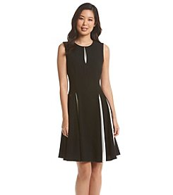 Taylor Dresses Pleated Fit And Flare Dress