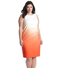 Calvin Klein Plus Size Ombre Sleeveless Dress