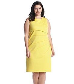 Calvin Klein Plus Size Side Pleated Dress